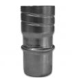 Raccord rigide mâle/flexible avec vissage DS Accessoires Ø 80 mm