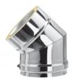 Coude ISOLÉ INOX - 45° - DIAM 150