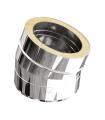 Coude ISOLÉ INOX - 15° - DIAM 150