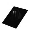 Solin 30 à 45° plomb & noir - DIAM 80
