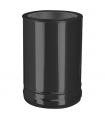 Connexion double à simple noire DW ECO Noir Ø 130 mm